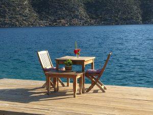 Ein idyllischer Platz am Meer bei Kekova